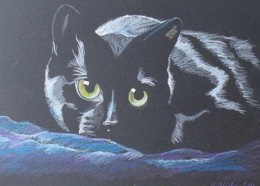 Кот охотник