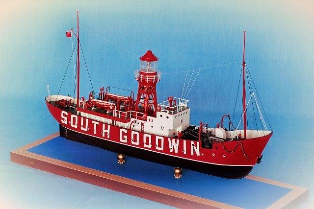 """Модель плавучего маяка """"Саут Гудвин"""""""