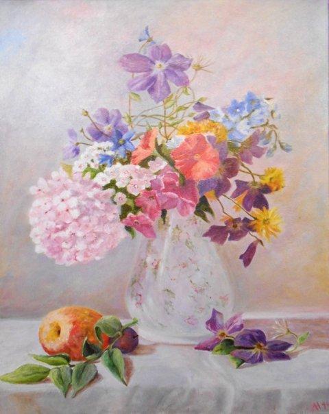 Натюрморт. Садовые цветы