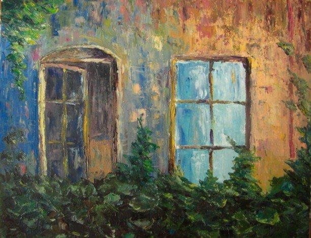 Окна (40x50, масло, холст)